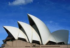SYDNEY opera W SYDNEY NOWYCH południowych waliach AUSTRALIA Obraz Royalty Free