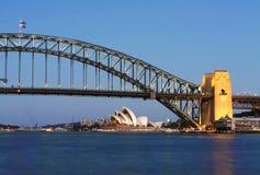 Sydney-Opernhaus-u. Hafen-Brücke Stockbilder