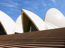 Sydney opery zakończenie w górę widoku dachowego i frontowego wejścia Zdjęcia Royalty Free
