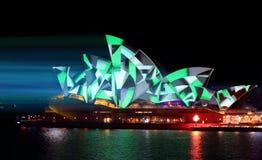 Sydney opery zieleni geometrii wzory Zdjęcia Royalty Free