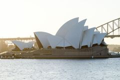 SYDNEY - 12 ottobre: Punto di vista di Sydney Opera House il 12 ottobre 2017 a Sydney, Australia Sydney Opera House è arti famose Immagine Stock