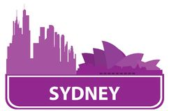 Sydney outline Stock Image