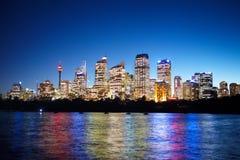 Sydney på nite Royaltyfria Foton