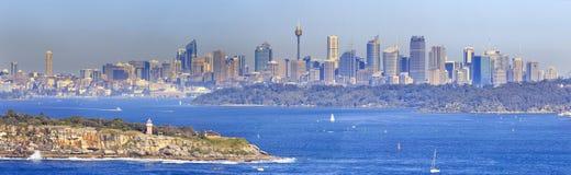 Sydney północy głowy dnia 300 panorama Zdjęcia Royalty Free