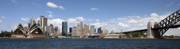 Sydney panoramic view Royalty Free Stock Photos