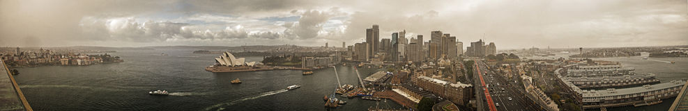 Sydney. Panoratic view of Sydney with Opera House Stock Photos