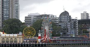 Sydney park lunar zdjęcie royalty free