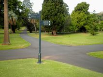 Sydney Park Sign Crossroads Royalty Free Stock Images