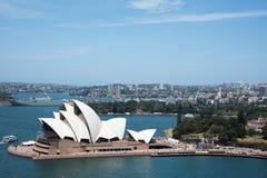 Sydney pejzaż miejski i opera obrazy stock