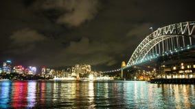 Sydney por noche almacen de video