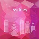 Sydney pour la bannière, affiche, illustration, jeu, fond photographie stock libre de droits