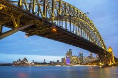 Sydney Przy nocą Zdjęcia Stock