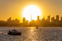 Sydney puszka miasteczko przy zmierzchem zdjęcie stock