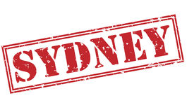 Sydney red stamp Stock Images