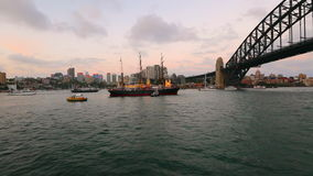 Sydney River on Boat stock video footage