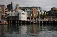 Sydney, The Rocks, Pier 8. The Rocks, an old historical area in Sydney Stock Image