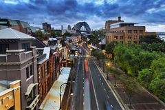 Sydney The Rocks Sunset from Cahill Stock Photos