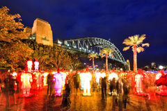 Sydney Rocks Terracota lanterns Royalty Free Stock Images