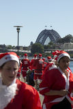 Sydney's Santa fun run Stock Images