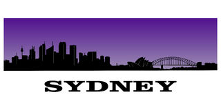 Sydney's skyline Stock Photos
