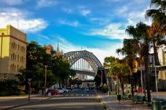 Sydney schronienia most, jeden bardzo sławna atrakcja turystyczna Obraz Royalty Free