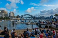 Sydney schronienia most Sydney Australia przy zmierzchem Zdjęcie Stock