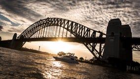 Sydney schronienia mosta zmierzch Zdjęcia Royalty Free