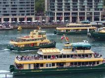 Sydney schronienia promy, Kółkowy Quay, Australia Zdjęcia Royalty Free