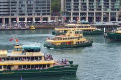 Sydney schronienia promy, Kółkowy Quay, Australia Zdjęcia Stock