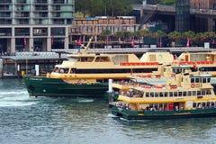 Sydney schronienia promy, Kółkowy Quay, Australia Obraz Stock