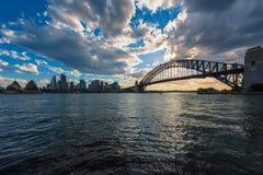 Sydney schronienie przy zmierzchem Obrazy Stock