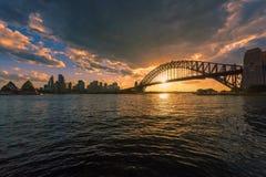 Sydney schronienie przy zmierzchem Zdjęcia Stock