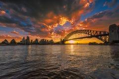 Sydney schronienie przy zmierzchem Zdjęcie Royalty Free