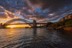 Sydney schronienie przy zmierzchem Obrazy Royalty Free