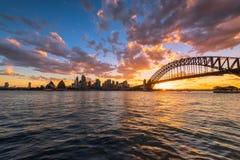 Sydney schronienie przy zmierzchem Obraz Stock