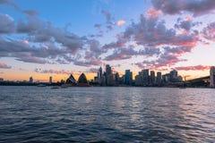 Sydney schronienie przy zmierzchem Zdjęcie Stock