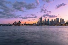Sydney schronienie przy zmierzchem Fotografia Royalty Free