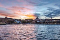 Sydney schronienie z malowniczym zmierzchu niebem na tle Zdjęcia Royalty Free