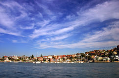 Sydney seaside residential royalty free stock photos