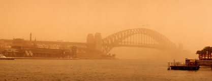 Sydney-September 2009 : The day have big sand strom cover all Sy Royalty Free Stock Images