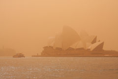 Sydney-September 2009 : The day have big sand strom cover all Sy Stock Images
