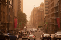 Sydney septiembre de 2009: El día hace que el strom grande de la arena cubra todo el Sy imagen de archivo