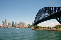 The Sydney Series. View of Sydney Harbour Bridge looking south towards the city of Sydney Stock Image