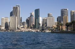 Sydney Skyline. View of Sydney looking towards Circular Quay Stock Images