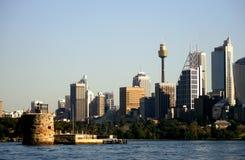 Sydney Skyline. Sydney Harbor and Skyline on sunny day Stock Image