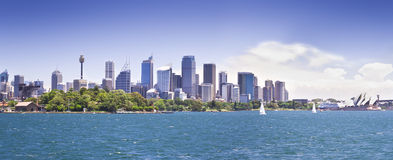 Sydney Skyline. A stock photograph of the Sydney Skyline on a sunny day Royalty Free Stock Photography