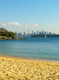 Sydney skyline. View from the beach with the Sydney skyline in the background Stock Image