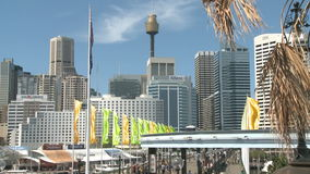 Sydney Skyline stock footage