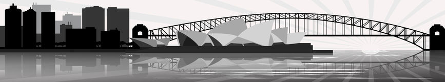 Sydney skyline - banner - vector Royalty Free Stock Photography