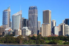 Sydney skyline with Botanic Gardens Royalty Free Stock Photos